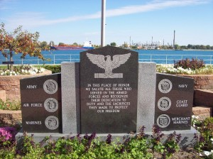 Service Memorial along the St. Clair River