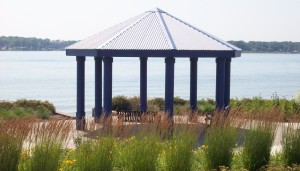 The gazebo at Chrysler Beach.